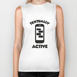 Textually Active Biker Tank