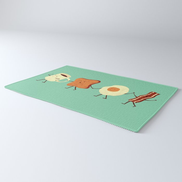 Let's All Go And Have Breakfast Rug
