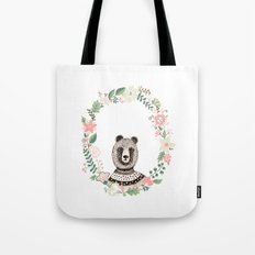 Bear in sweatshirt Tote Bag