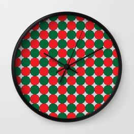 Christmas Color Dodecagons Wall Clock