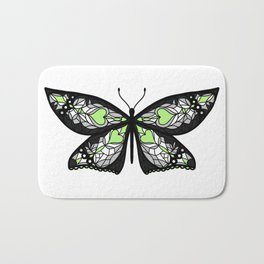 Fly With Pride: Agender Flag Butterfly Bath Mat