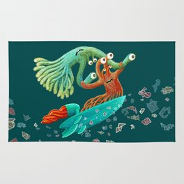 Surfing Monsters Rug
