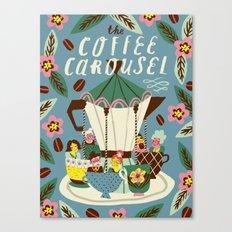 The Coffee Carousel Canvas Print
