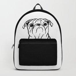 Pug (Black and White) Backpack
