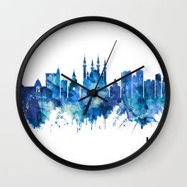 Kazan Russia Skyline Blue Wall Clock