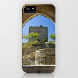 Ourem, castle window, Portugal iPhone Case
