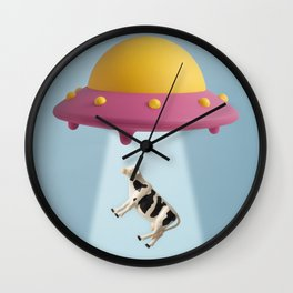 Abducted Cow Wall Clock