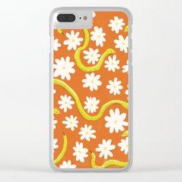 Daisy Snakes Clear iPhone Case