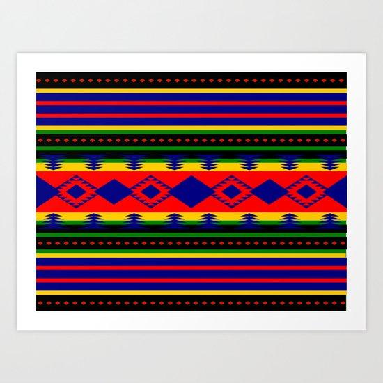 Aztec Summer Art Print