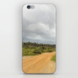 Grey Clouds over Bonaire Island in the Caribbean iPhone Skin