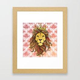 King The Lion Framed Art Print