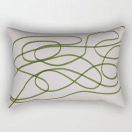The Green Line Rectangular Pillow