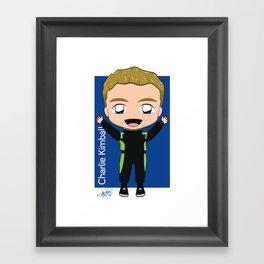 Chibi Charlie Kimball - Carlin - 2018 Verizon IndyCar Series Framed Art Print