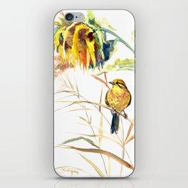 Yellow Bird and Sunflowers, Yellowhammer iPhone Skin