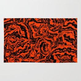 modern scramble, black and red Rug