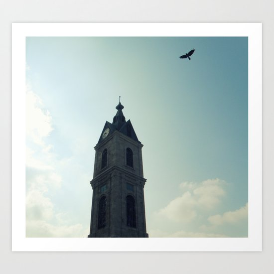 Talking to the Clouds Art Print