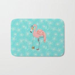 Walkman Flamingo with Hibiscus Bath Mat