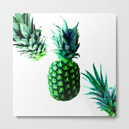 Malibu Pineapple | Anana Exotic Metal Print