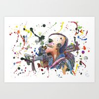 tank girl Art Prints featuring Tank Girl by Abominable Ink by Fazooli