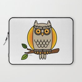 Owl in a Circle Laptop Sleeve