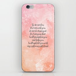 Isaiah 41:10, Uplifting Bible Verse iPhone Skin