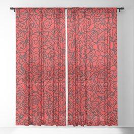 Red roses (8-2-19) Sheer Curtain