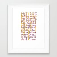 calligraphy Framed Art Prints featuring Calligraphy Gothic by Cami Landia