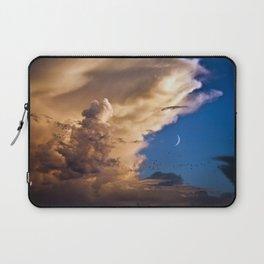 Clouds, Birds, Moon, Venus Laptop Sleeve