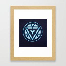 arc reactor iron man Framed Art Print