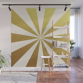 gold starburst Wall Mural