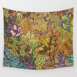 Floral Garden Wall Tapestry