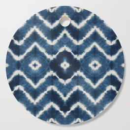 Shibori, tie dye, chevron print Cutting Board