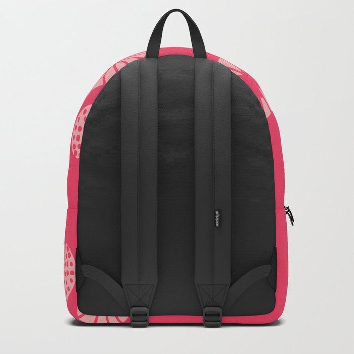 Dandelion flying hot pink Backpack