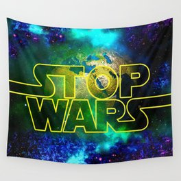 STOP WARS Wall Tapestry
