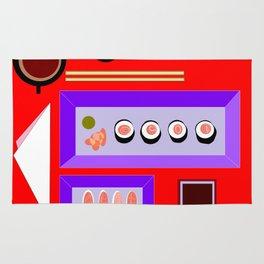 A Sushi Dinner with Tea Rug