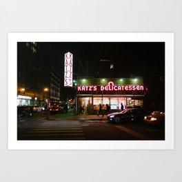 Katz's at Night Art Print