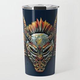 Killmonger Tribal Mask Travel Mug