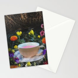 Flowers and Tea in Wonderland Stationery Cards
