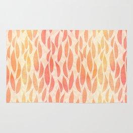 Watercolour Leaves Rug