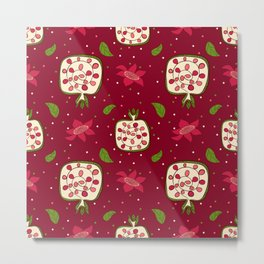 Colorful pomegranate Metal Print