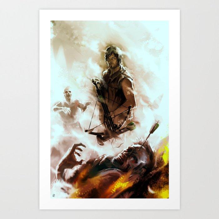 [ Daryl Dixon * Norman Reedus ] the walking dead Art Print