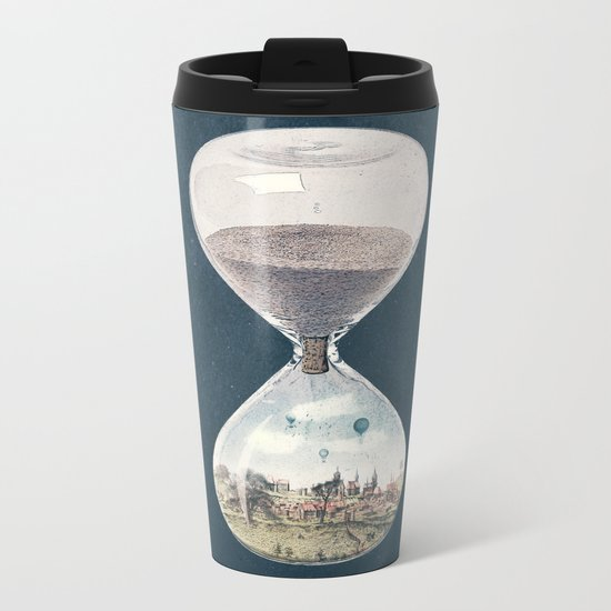 There's A City Where Time Stopped Long Ago Metal Travel Mug