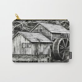The Old Mill Black and White Carry-All Pouch