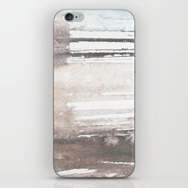 brown blue abstract watercolor iPhone Skin