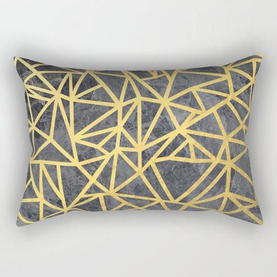 Ab Marb Gold Rectangular Pillow