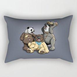 Three Angry Bears Rectangular Pillow