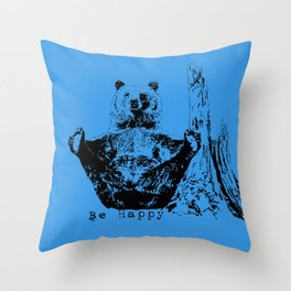 Happy To Bear It With You Throw Pillow
