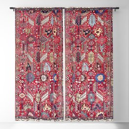 Shekarlu Qashqa'i Fars Southwest Persian Carpet Print Blackout Curtain