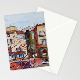 Entrance of Valbonne village Stationery Cards