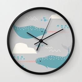 Narwhal grey Wall Clock
